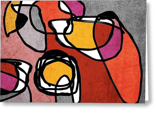 Vibrant Colorful Abstract-0-52 Greeting Card by Irena Orlov