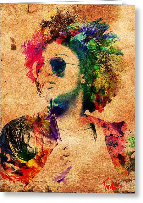 Vibrant Greeting Card by Derron Ridley