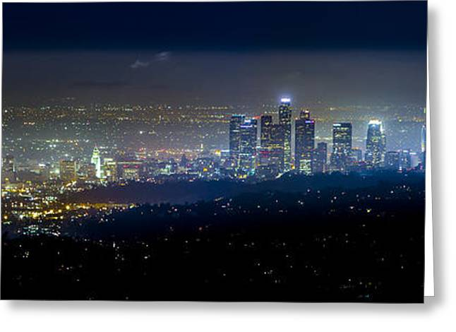 Vibrant #downtownla #cityscape #photography Greeting Card