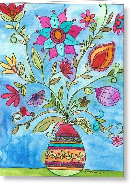 Vibrant Floral Greeting Card