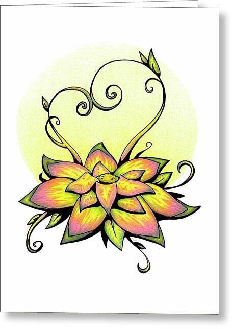Vibrant Flower 8 Greeting Card
