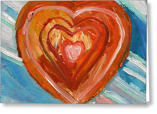Greeting Card featuring the painting Vibrant Heart by John Williams