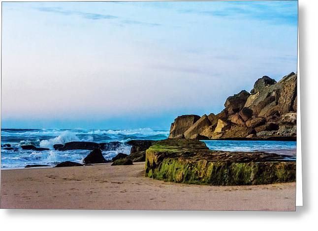 Greeting Card featuring the photograph Vibrant Seascape At Twilight by Marion McCristall