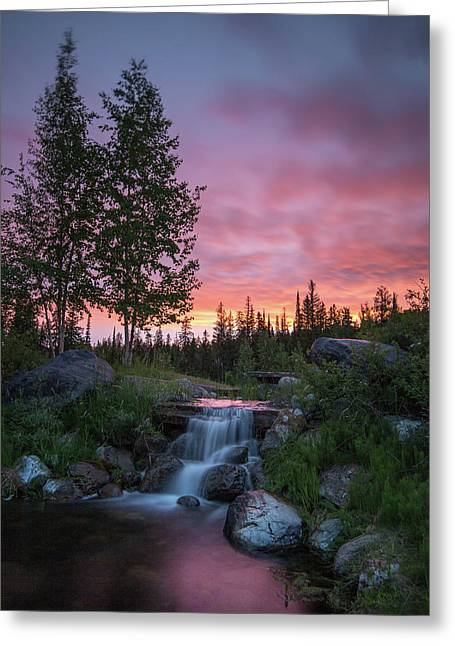 Vibrant Sky // Whitefish, Montana  Greeting Card