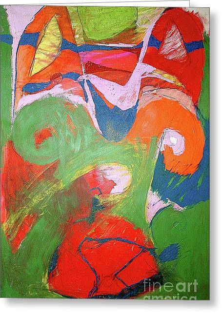 Vibrant Strength Greeting Card by Laurie Wynne Weber