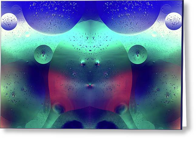 Greeting Card featuring the photograph Vibrant Symmetry Oil Droplets by John Williams