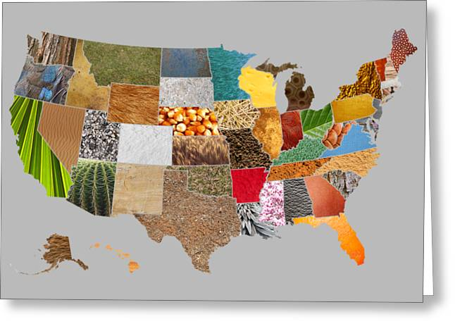 Vibrant Textures Of The United States Greeting Card