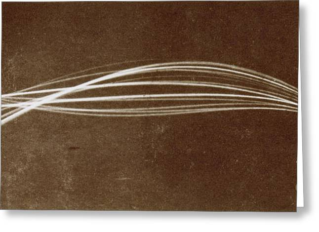 Vibration Of A Flexible Rod, 1886 Greeting Card