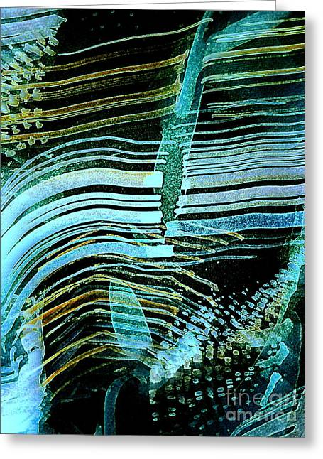 Vibrations Greeting Card by Nancy Kane Chapman