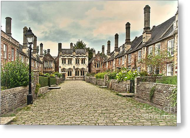 Vicars Close Wells  Greeting Card by Ian Lewis