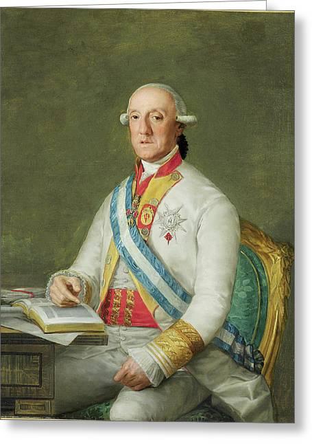 Vicente Maria De Vera De Aragon Duque  Greeting Card