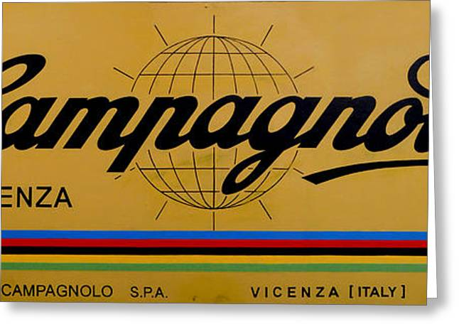 Vicenza Shop Sign Yellow Greeting Card
