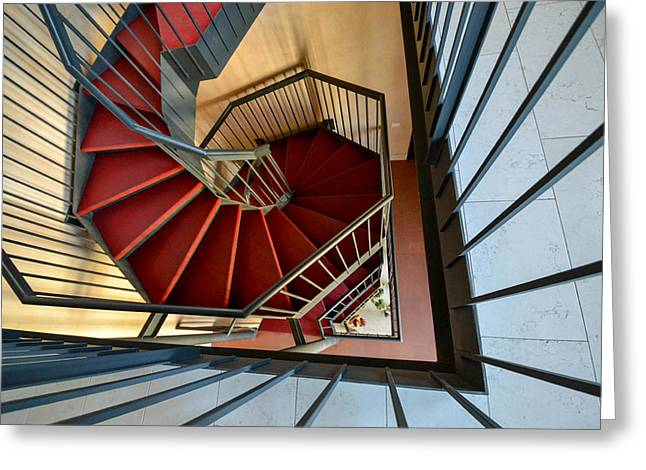 Vicenza Spiral Greeting Card by Bill Mock