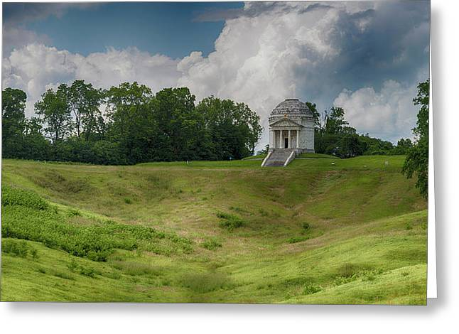 Vicksburg National Military Park - Illinois Memorial Greeting Card by Stephen Stookey