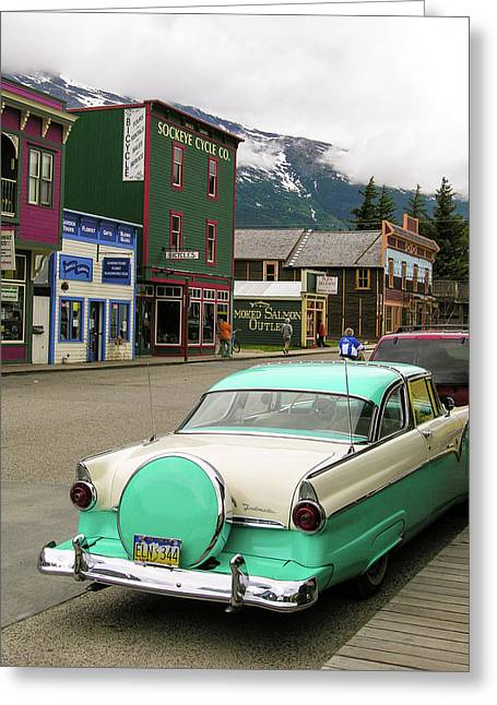 Greeting Card featuring the photograph Vicky In Skagway by Jim Mathis