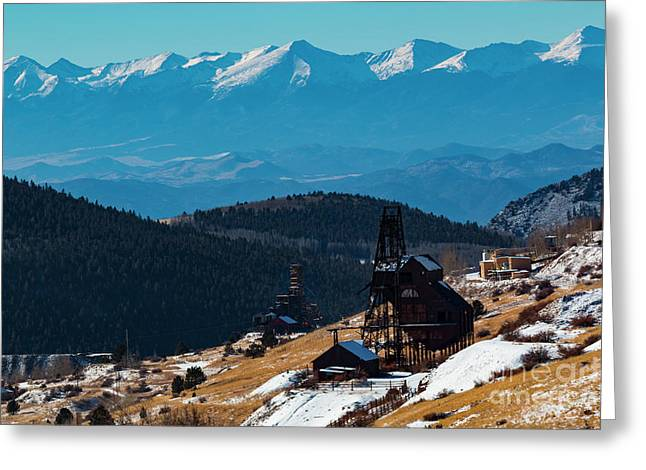 Victor Gold Mine Greeting Card