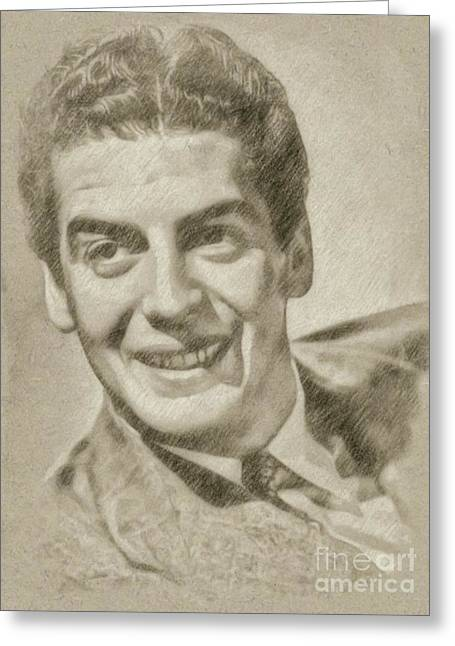 Victor Mature Vintage Hollywood Actor Greeting Card by Frank Falcon