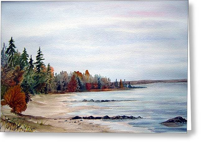 Victoria Beach In Manitoba Greeting Card