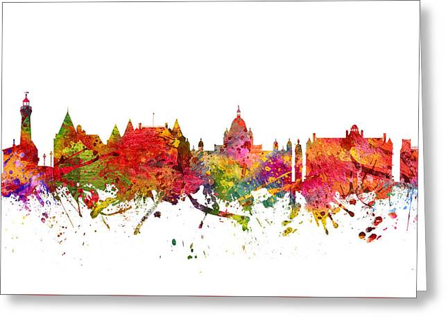 Victoria Cityscape 08 Greeting Card by Aged Pixel