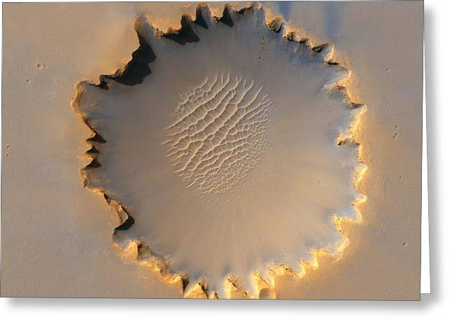 Victoria Crater Of Mars  Greeting Card by Jet Propulsion Laboratory