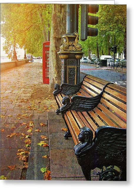Victoria Embankment Greeting Card by JAMART Photography