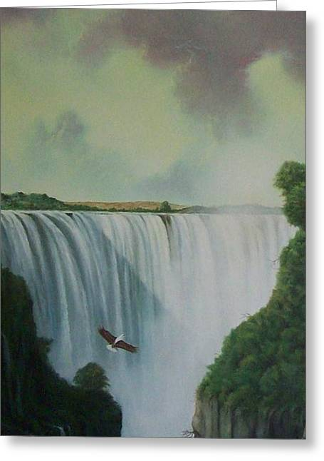Victoria Falls Greeting Card by Don Griffiths