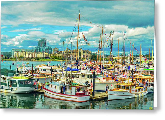 Victoria Harbor 2 Greeting Card