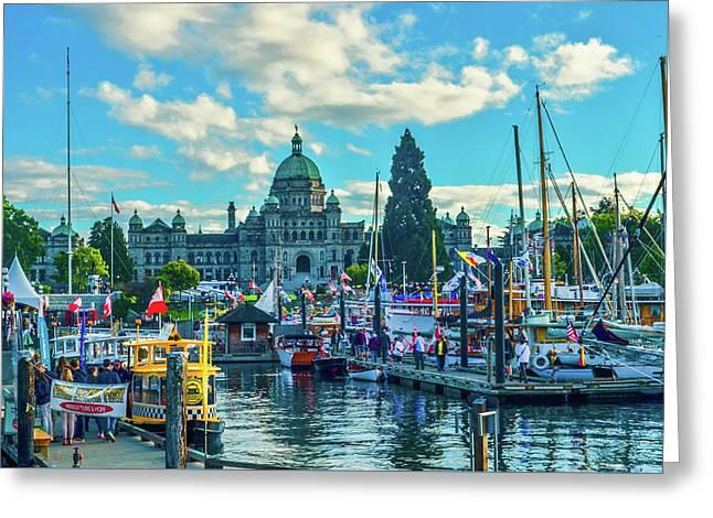 Victoria Harbor Boat Festival Greeting Card
