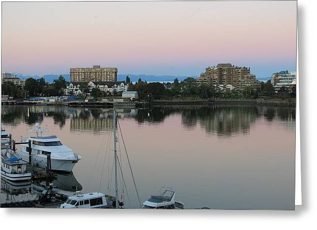 Victoria Harbor Dawn Greeting Card