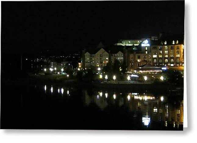 Victoria Harbor Night View Greeting Card