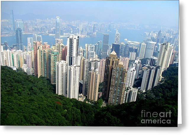 Greeting Card featuring the photograph Victoria Peak 1 by Randall Weidner