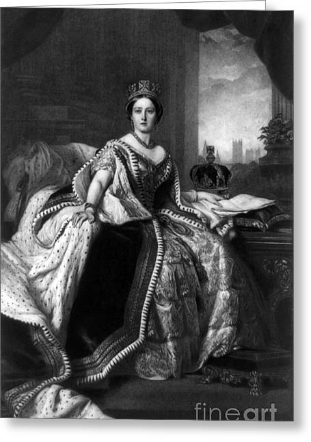 Victoria, Queen Of England Greeting Card