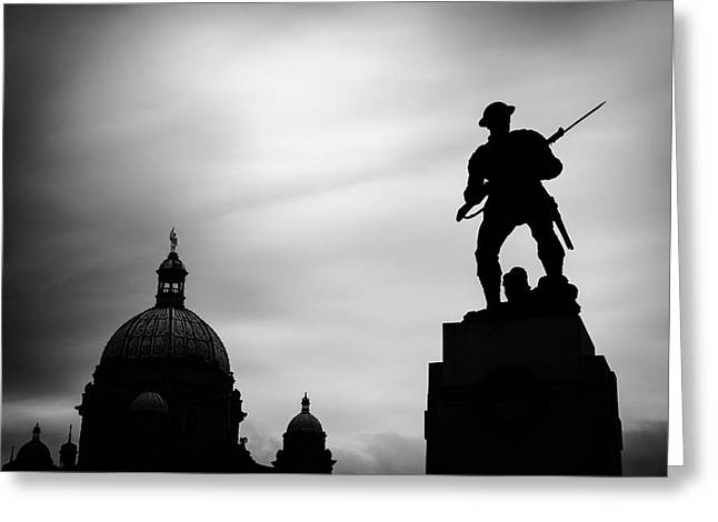 Victoria Silhouettes Greeting Card