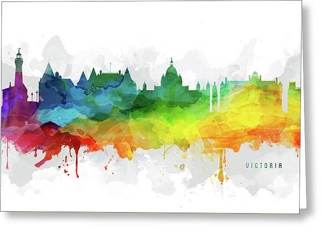 Victoria Skyline Mmr-cabcvi05 Greeting Card