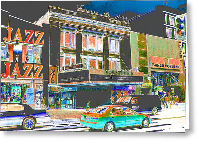 Victoria Theater 125th St Nyc Greeting Card