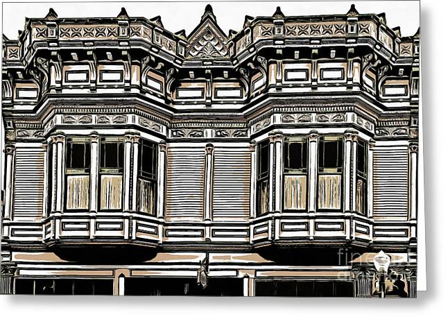 Victorian Architecture Details Greeting Card by Edward Fielding