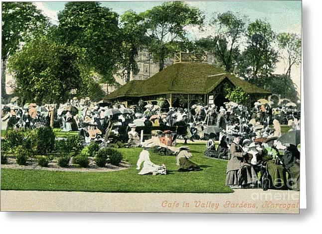 Victorian Cafe In Valley Gardens Harrogate North Yorkshire Greeting Card by Heidi De Leeuw