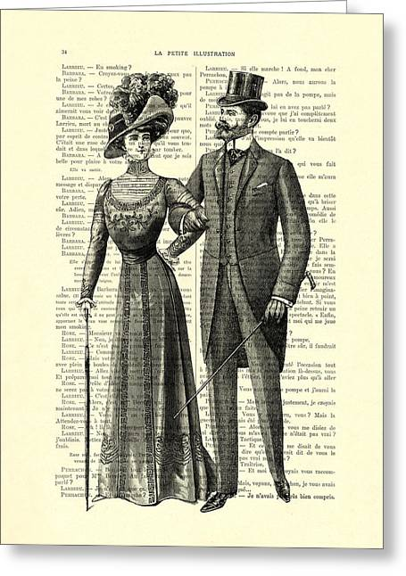 Victorian Couple Greeting Card