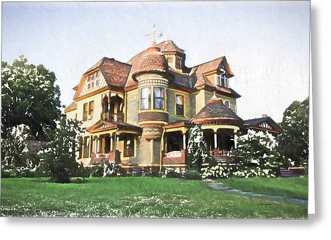 Victorian House Greeting Card by Ericamaxine Price