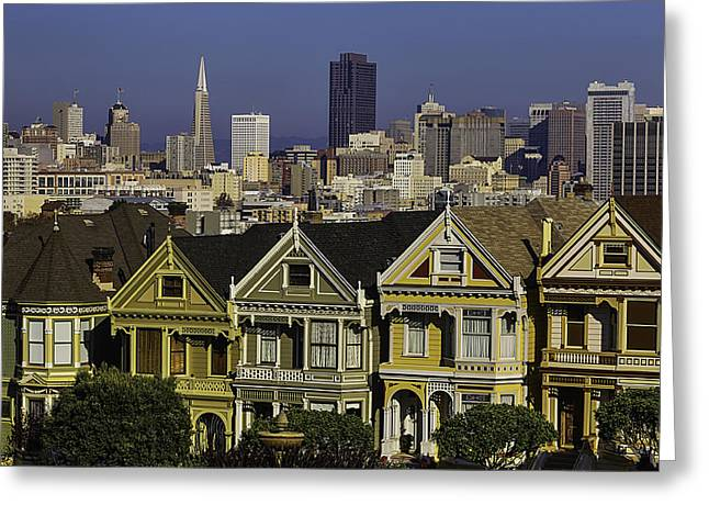 Victorian House In San Francisco Greeting Card