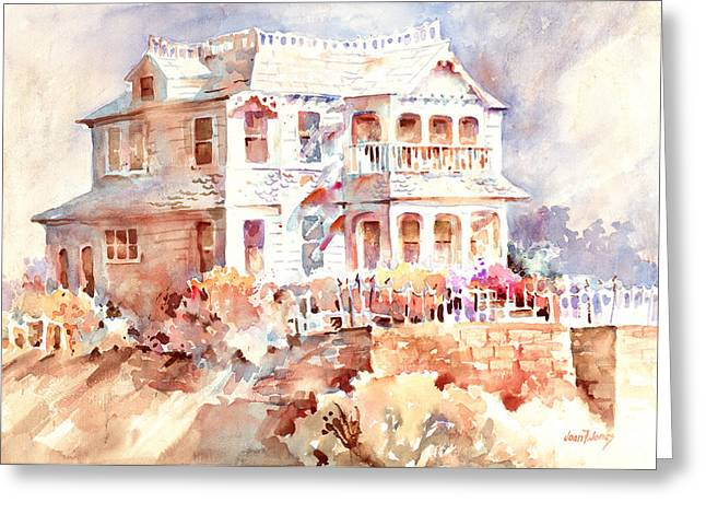 Victorian House Greeting Card by Joan  Jones