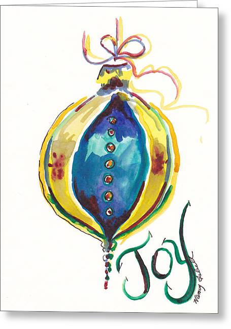 Victorian Joy Ornament Greeting Card by Michele Hollister - for Nancy Asbell