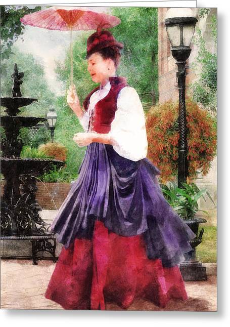 Victorian Lady Greeting Card