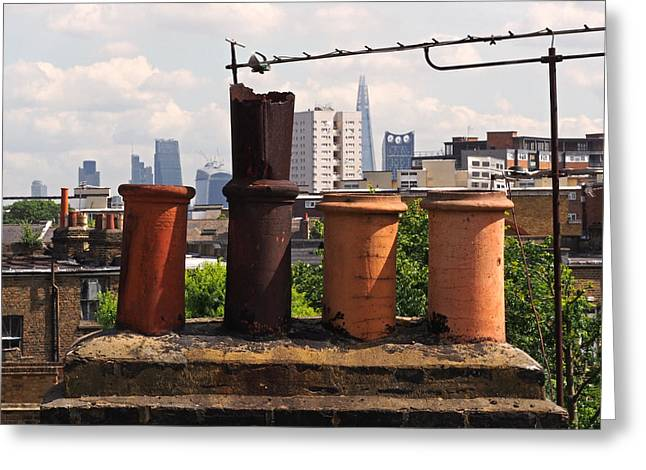 Victorian London Chimney Pots Greeting Card
