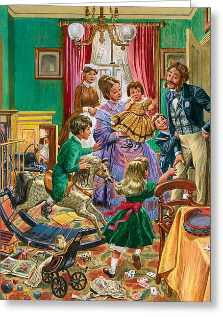Victorian Nursery Greeting Card by Peter Jackson