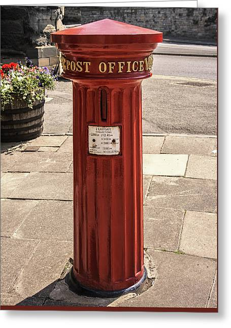 Victorian Red Postbox Greeting Card by Georgia Fowler