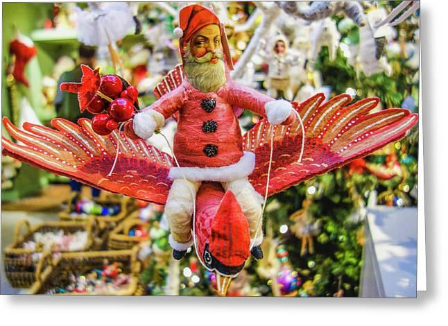 Victorian Santa  Greeting Card