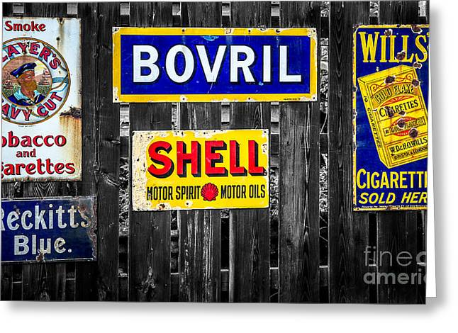 Victorian Signs Greeting Card by Adrian Evans