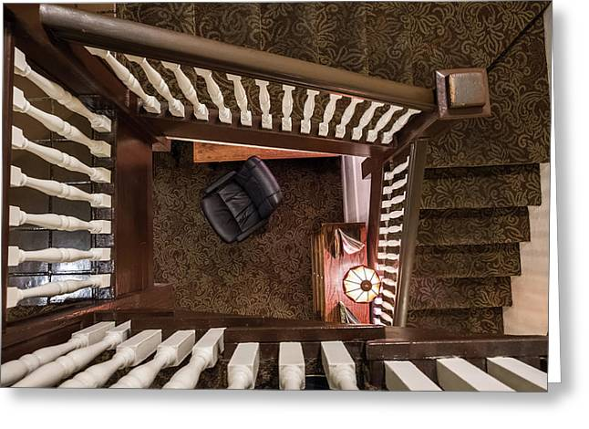 Victorian Stairway Greeting Card