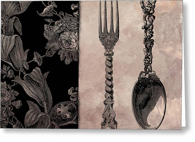 Victorian Table IIi Greeting Card by Mindy Sommers